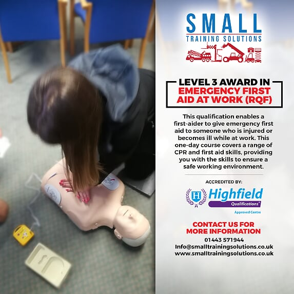 Emergency First Aid at Work course cardiff swansea merthy tydfil